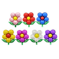 The new five petals green flower aluminium foil balloons wedding balloons children's birthday party decoration helium balloon