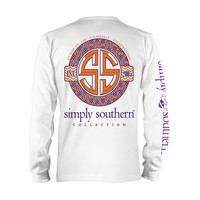 "Simply Southern ""Clemson"" Long Sleeve T-shirt"