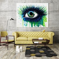 Abstract Green Eye Canvas Painting Wall Art Picture for Home Living Room Decor Eye Artwork Poster Canvas Print Drop Shipping