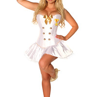 Costume 4 PC Sexy Navy Officer
