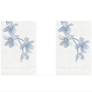 Quartz Sunset Orchid Guest Towels (Set of 2) by Anali