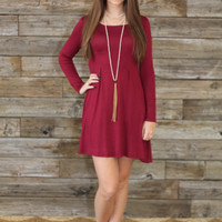 Solid Long Sleeve Dress - Multiple Colors – Shoe Fly