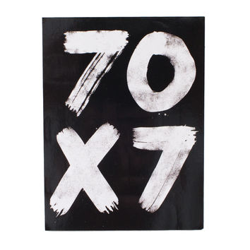 70 x 7 Black Sticker