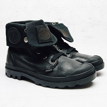Baggy Leather Boot - Black