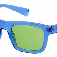 Polaroid - Pld 6050 S Blue Sunglasses / Green Polarized Lenses