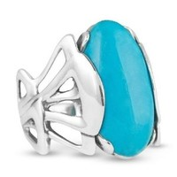 Relios Sterling Silver Blue Turquoise Statement Ring