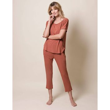 Bamboo Stay-Home Set - Rust