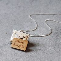 Personalised Sterling Love Letter Necklace
