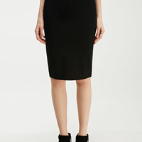 Stretch-Knit Pencil Skirt