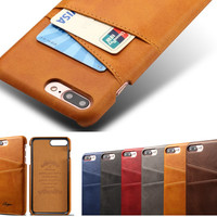 Best Protection Leather Phone Case Cover Credit Card and Cash Phone Case Cover for iPhone 7Plus & iPhone 6S Plus [9619208975]