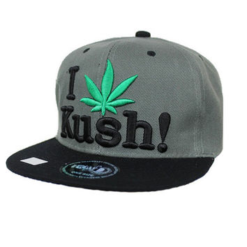 * Snap Back I Kush  Adjustable Snap Back In Dark Gray/Black