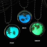 Sea World, the marine's heart, shell necklace, prom jewelry, party jewelry,Glow in the dark necklace,Glowing Pendant Necklace