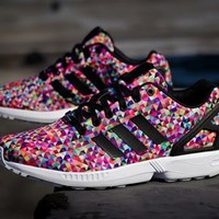 "Amazon.com: Adidas Mens ZX Flux ""Photo Print"" Synthetic Athletic Sneakers"