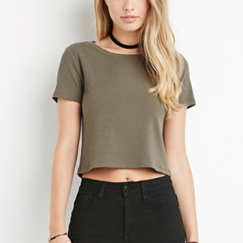 Ribbed Stretch Knit Top
