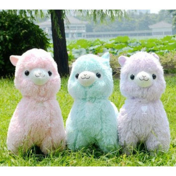 45cm Japanese Alpacasso Soft Toys Doll Giant Stuffed Animals Toy 5 Colors Kawaii Alpaca Plush Kids Christmas Gift