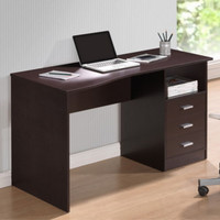 Modern Computer Desk With Three Drawers Home Office Furniture Wenge Finish New