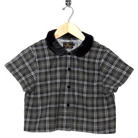 Motel Vintage Andy Blouse Full Check 0050 ONE SIZE