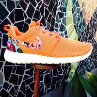 Custom Floral Roshe Runs(Turf Orange)