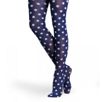 Check our blue small dots tights for fun women at HappySocks.com