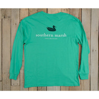 Southern Marsh Authentic Long Sleeve Tee- Jockey Green