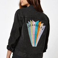 PacSun Los Angeles Embroidered Denim Jacket at PacSun.com