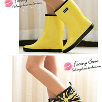 Lostlands high quality fashion leopard print women's rainboots women's rain boots water shoes rain shoes four seasons paragraph-in Boots from Shoes on Aliexpress.com