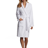 Seven Apparel Hotel Spa Collection Herringbone Textured Plush Bath Robe