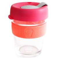 colorful reusable coffee cup