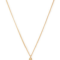 FOREVER 21 Faux Gem Pendant Necklace White/Gold One