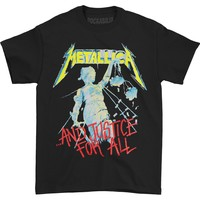 Metallica Men's  Justice Neon T-shirt Black