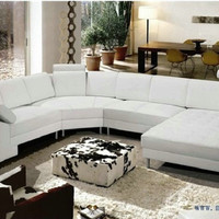 Free Shipping Extra Large Size U shaped Villa couch, Genuine leather sofa set modern couch sofa furniture  S8683