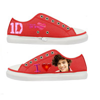 One Direction I Love Harry Styles woman canvas shoes - Size : US 5 6 7 8 9 EUR 36 37 38 39 40