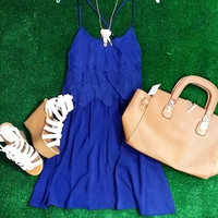 DINNER PARTY DRESS IN NAVY