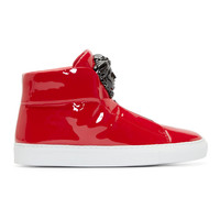 Red Medusa High-Top Sneakers