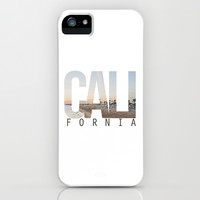CALI FORNIA (White) iPhone & iPod Case by Thecrazythewzrd