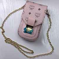 MCM Hot Selling Classic Mini Mobile Phone Case Coin Purse Key Case Fashion Lady Chain Shoulder Messenger Bag
