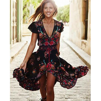 Floral Vintage Boho Shift Dress