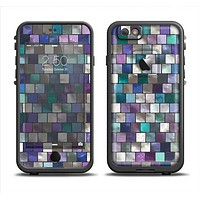 The Mosaic Purple and Green Vivid Tiles V4 Apple iPhone 6 LifeProof Fre Case Skin Set