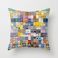 The Pokemon First Generation Throw Pillow by Jorden Tually Art