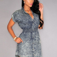 Sleeveless Denim Mini Dress