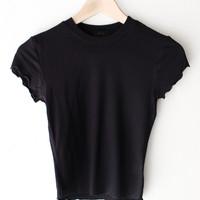 Basic Crop Top - Black