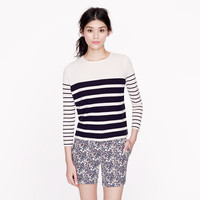 COLLECTION CASHMERE BOXY BOY SWEATER IN STRIPE