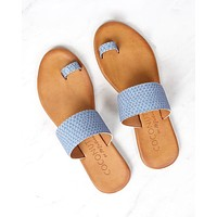 Final Sale - COCONUTS By Matisse - Freddie Slip On Sandal in Dusty Blue