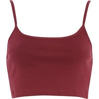 River Island Womens Red cami crop top