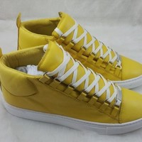 Balenciaga Men's Classic Leather High Top Casual Sneakers Shoes