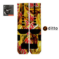 TWIX CANDY Design Nike Elite Custom Socks By Ditto! FAST Shipping With Free Order Tracking