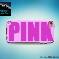 Pink Solid Hot Pink Cute Awesome Sexy Pretty Case for iPod Touch 6th 5th Gen