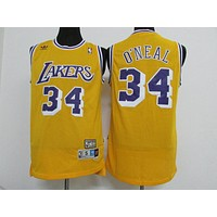 LA Lakers #34 Shaquille O'Neal Retro Swingman Jersey