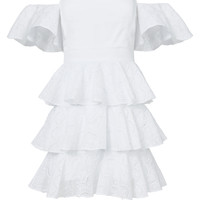 Irene Mini Ruffle Dress