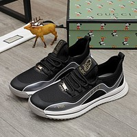 Gucci2021 Men Fashion Boots fashionable Casual leather Breathable Sneakers Running Shoes0528pk